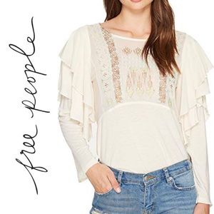 Free People Wisteria La Cienga boho Top